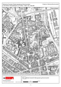 Abbildung, für welche Gebiete die Erhaltungssatzung für das Severinsviertel konkret gilt
